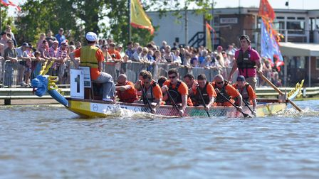 Action from a previous East Anglian Dragon Boat Festival at Oulton Broad. Picture: Gable Events.