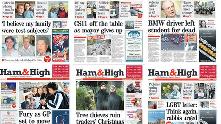 Some of the Ham&High's most striking front pages of 2019.