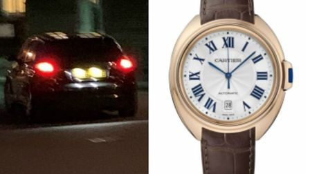 The Audi was used to steal watches including a Cle de Cartier watch. Picture: Met Police