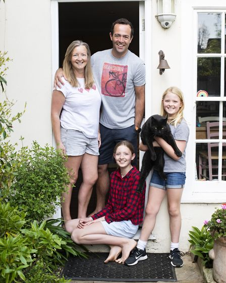 The portraits of people in front of their front doors during lockdown. Picture: Jenny Smith