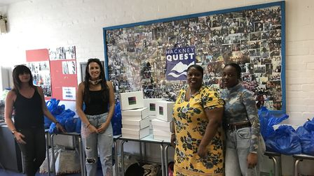 The mother and daughter duo deliver birthday boxes to Hackney Quest. Picture: Andreena and Renee Bog
