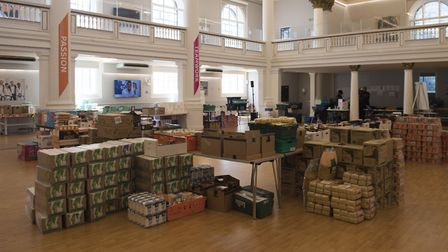 The Greenhouse Centre near Paddington has transformed into a food bank to serve families in Church S