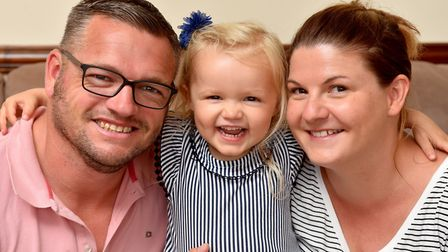 Imogen Gotts,3, suffers from juvenile idiopathic arthritis which causes severe pain in her joints. I