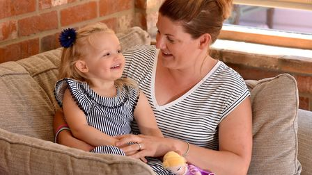 Imogen Gotts,3, suffers from juvenile idiopathic arthritis which causes severe pain in her joints.
