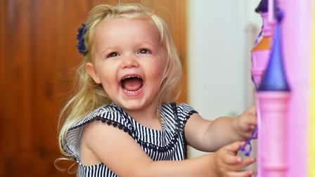 Imogen Gotts,3, suffers from juvenile idiopathic arthritis which causes severe pain in her joints. P