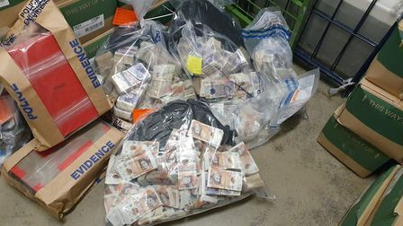 """The £1m cash recovered by police who suspect it to be from """"ill-gotten"""" activities. Picture: Met Pol"""
