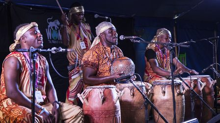 Hackney based drummers and musicians, One-Drum, performed outside Homerton Hospital for the final Cl