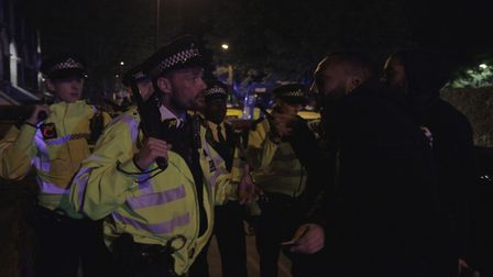 Police shut down an unlicensed music event on the Sprinfield Estate in Hackney on Saturday night (Ma