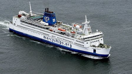 The Africa Mercy ship is currently the only Mercy Ships vessel in service. Picture: Submitted by Dr