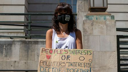 Extinction Rebellion Hackney on the silent protest. Pictures: Vincenzo Lullo