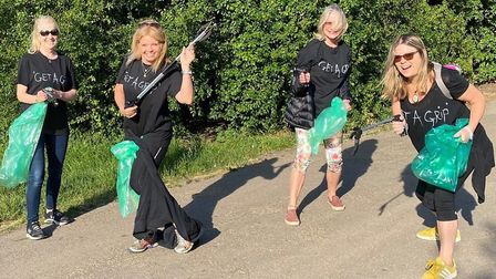 'Get a grip' volunteers pick litter on Hampstead Heath. Picture: Nikki Newman