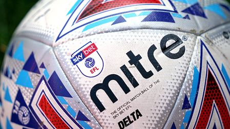 An official match ball of the Sky Bet EFL