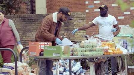 The Wickers Charity has organised local groups and volunteers to give out food and support people du