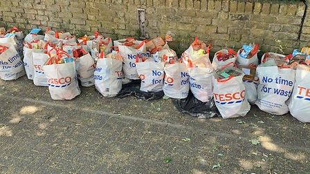 Care packages have been given out every Thursday for eight weeks. Picture: The Wickers Charity