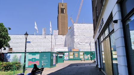 Building works at Hornsey Town Hall are taking place between 8am-9m Monday-Saturday. Picture: Michae