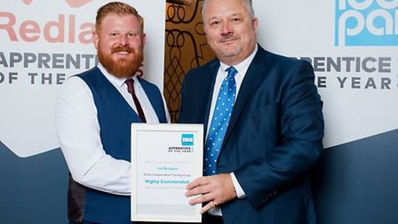 Joe Burgess with his Highly Commended award, Photo: Waveney District Council.