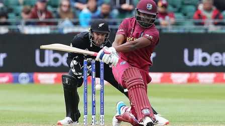 West Indies' Darren Bravo in batting action during the ICC World Cup warm up match at the Bristol Co