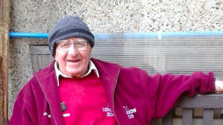 George Fitt, 91, had worked at the London Zoo since 1947. Picture: London Zoo