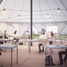 What pop-up classroom will be like when it's put up at Manorfield Primary in Poplar. Picture: Curl l