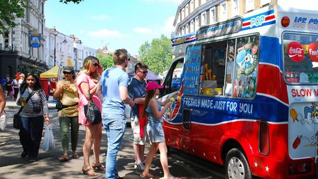 The ice cream business can be lucrative in the summer. Picture: Polly Hancock