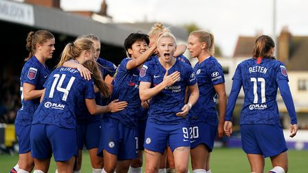 Chelsea have been confirmed as WSL champions on points-per-game basis (Pic: Tess Derry/PA)