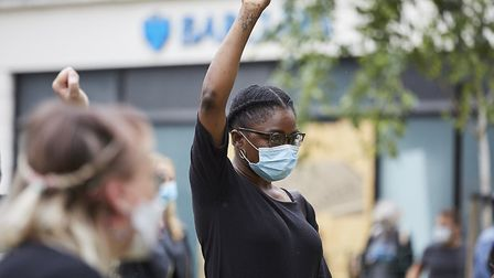 Cllr Julia Ogiehor at the Black Lives Matter protest in Crouch End. Picture: Lucie Goodayle