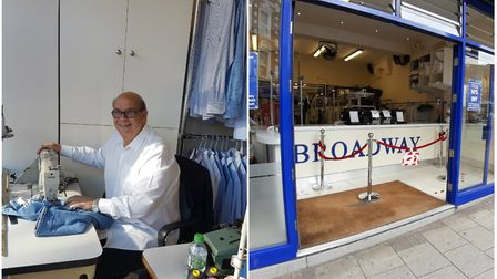 Floros, resident tailor for Broadway Dry Cleaners & Launderers. Picture: Andrew Georgiou