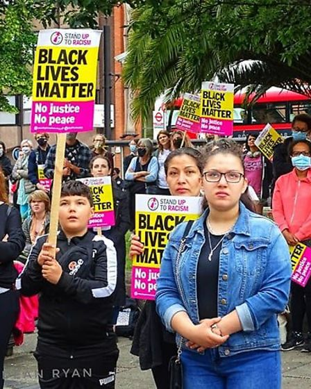 Hackney Stand Up To Racism and Facism (SUTR) organised a demonstration outside Hackney Town Hall on