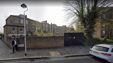 The back gardens, off of Montpelier Grove, which are being developed by Dr Youngman.Picture: Google.