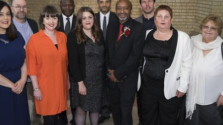 Cllr Zena Brabazon (far right) as part of Cllr Joe Ejiofor's initial, now much-changed, cabinet. Pic