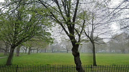 The meditation sessions in support of Black Lives Matter were held in London Fields. Picture: Google
