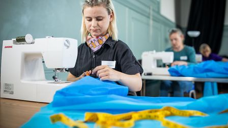 Creating scrubs for the Royal Free's staff. Picture: Royal Free