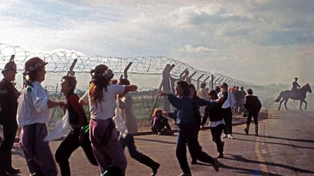 Hackney women at Greenham Common protest against US cruise missiles in 1984.� Rio Cinema Archive