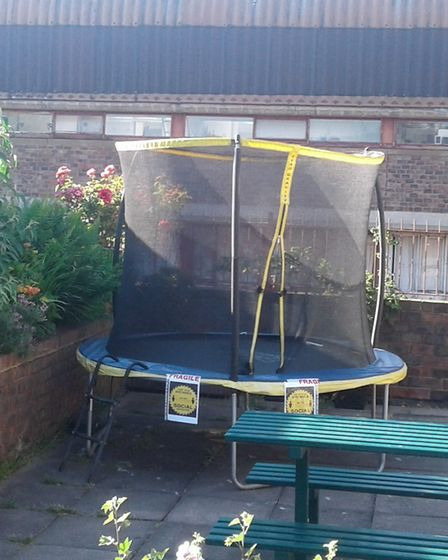 The Alexandra Place trampoline has since been dismantled. Picture: Hazel Ampadu