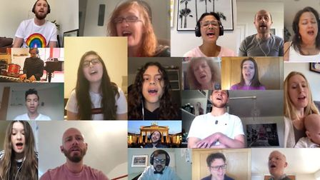 UCL Academy's virtual choir performing Lean On Me by Bill Withers. Picture: UCL Academy
