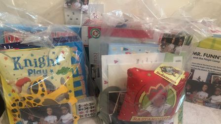 One of the emergency gift baskets for single mothers. Picture: Submitted by DILI Management