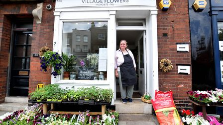 Florist Janet Burgess reopens Village Flowers in Highgate. Picture: Polly Hancock