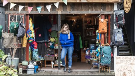 Beth Martin at the shop Outdoor People in Netil Market. Picture: Eat Work Art