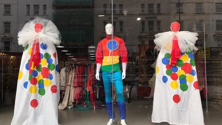 TRAID charity shops in Dalston and elsewhere are celebrating NHS staff and key workers with rainbow