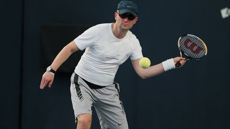 Paul Ryb in action (Pic: LTA)
