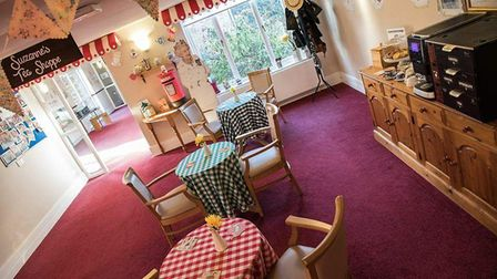 A tea room was created to help residents with dementia Picture: APS CARE LTD