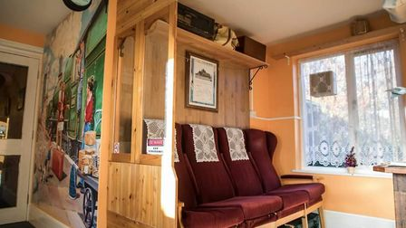 The home created a railway carriage area as two residents at the home had worked as train drivers Pi