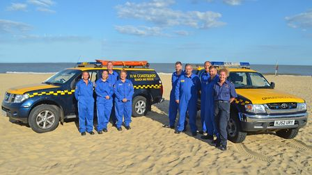 Members of the Lowestoft and Southwold Coastguard team, who have endured a hectic summer. Picture: M