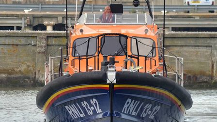 The lifeboat from RNLI Lowestoft Lifeboat Station. Picture: Mick Howes