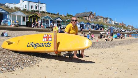 An RNLI Lifeguard keeps watch on Southwold beach. Picture: Liam Fayle-Parr/RNLI