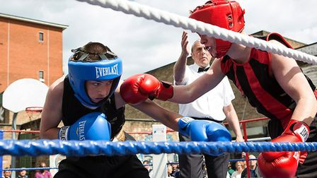 Young boxers from The Pedro youth club. Picture: Pedro Club