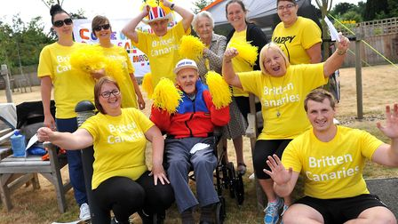 Britten Court taking part in Care Uk Suffolk Sports Day at Mills Meadow, Framlingham. Picture:Lucy T