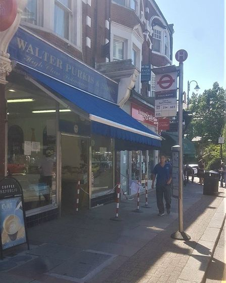 Haringey Council's chosen location for the bus stop made it impossible for people to abide by social