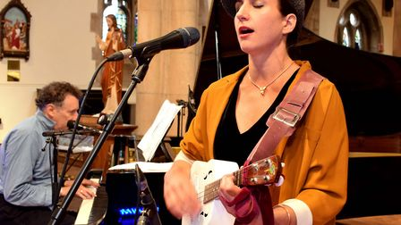 Clara Sanabras and Harvey Brough from Harvey and the Wallbangers recorded their performance at St Ma