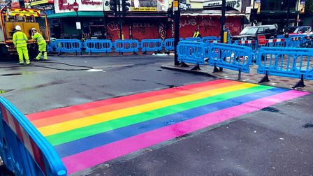 The crossing was installed on Global Pride Day on June 27. Picture: Cllr Danny Beales